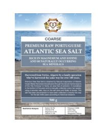 Premium Raw Portuguese Atlantic Sea Salt 500g (coarse)