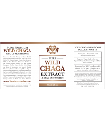 (1:1 Dual Extraction Tincture) Pure Wild Chaga Extract  60ml / 2floz (Lion Heart Herbs)