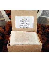 Wild Chaga King Chaga Tea Bags - (20 tea bags) (100% British Wild Chaga)