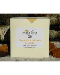Wild Chaga King - Chaga, Nettle, Horsetail & Vanilla Teabags - (20 tea bags) (100% British Wild Chaga)