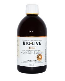 BIOLIVE GOLD Liquid Probiotic 500ml (5 billion per 20ml serving)