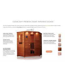 Clearlight IS-Corner (Three-Four Person Cedar Far Infrared Corner Sauna - Low EMF)