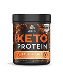 Ancient Nutrition Keto Protein, Chocolate (540g) (powered by bone broth)