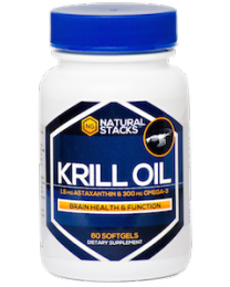Antarctic Krill Oil with 1.5 mg of Astaxanthin - 60 ct.(Natural Stacks)