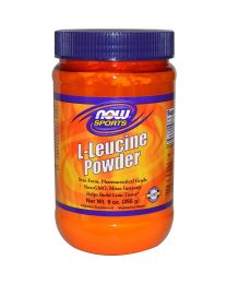 Best Before August 2018 - Now Foods, Sports, L-Leucine Powder, 9 oz (255 g)