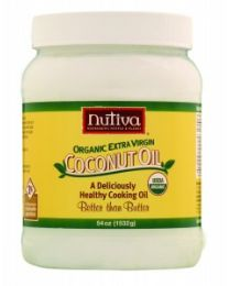 Nutiva's Extra Virgin Raw Coconut Oil 54 fl oz (1.6 L)