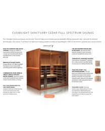 Clearlight Sanctuary Y (Full Spectrum Four Person Cedar Infrared Yoga Sauna - Low EMF)