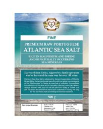 Premium Raw Portuguese Atlantic Sea Salt 500g (fine)