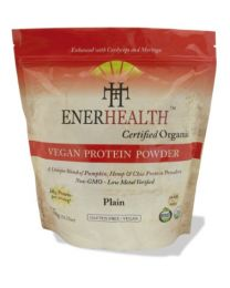 Organic Vegan Protein Powder blend - PLAIN (908g) (infused with moringa and cordyceps)