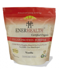 Organic Vegan Protein Powder blend - VANILLA (908g) (infused with moringa and cordyceps)